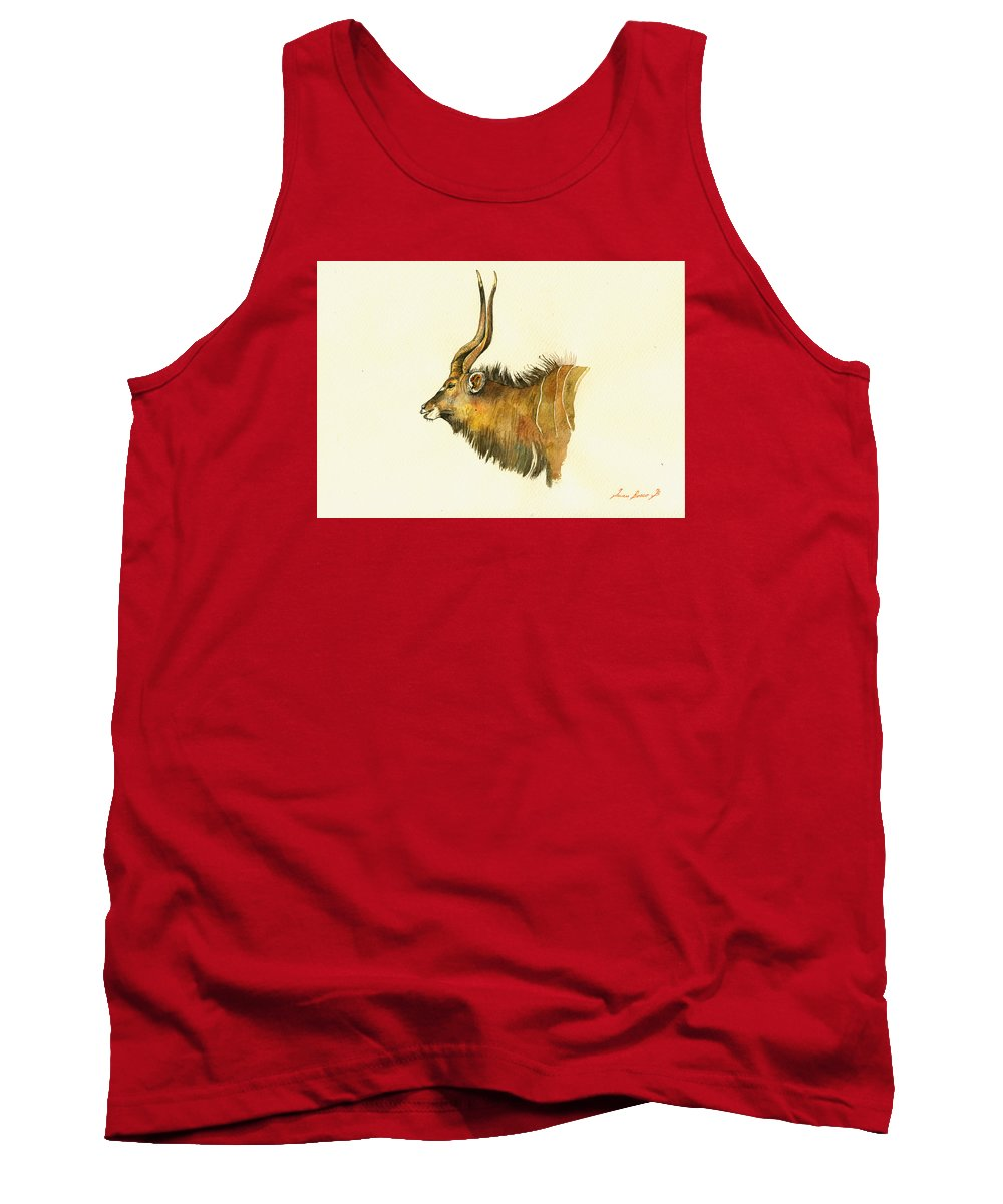 Eland Tank Top featuring the painting Greater Kudu by Juan Bosco