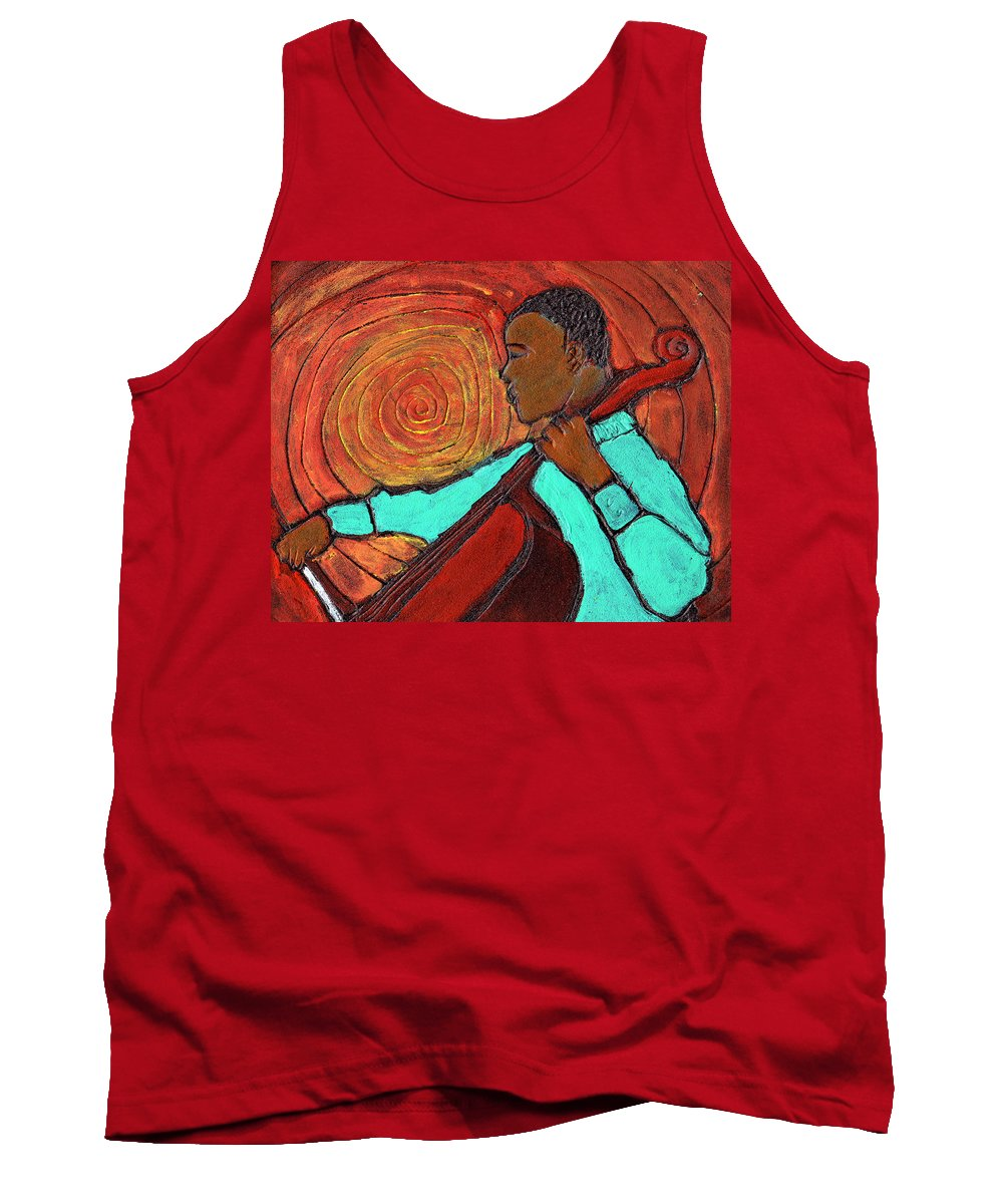 Jazz Tank Top featuring the painting Hot Jazz by Wayne Potrafka
