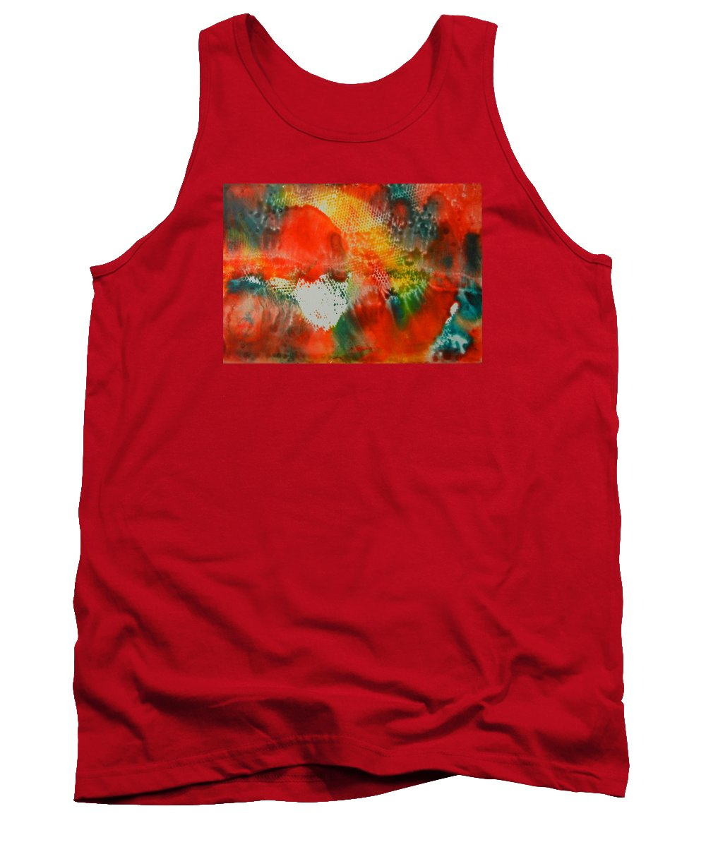 Abstract Tank Top featuring the painting Inferno by Kruti Shah