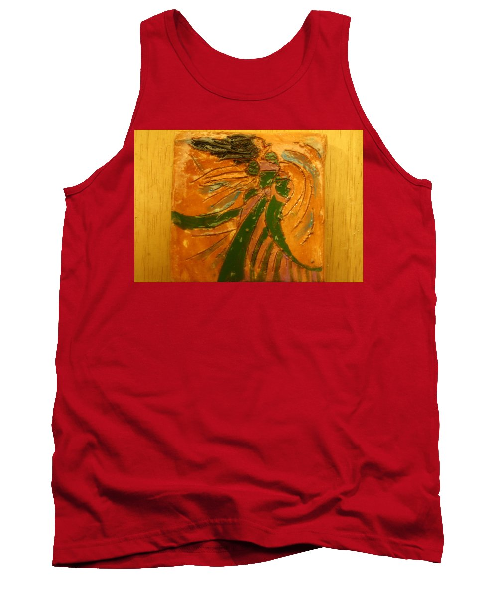 Jesus Tank Top featuring the ceramic art Lady Sings - Tile by Gloria Ssali