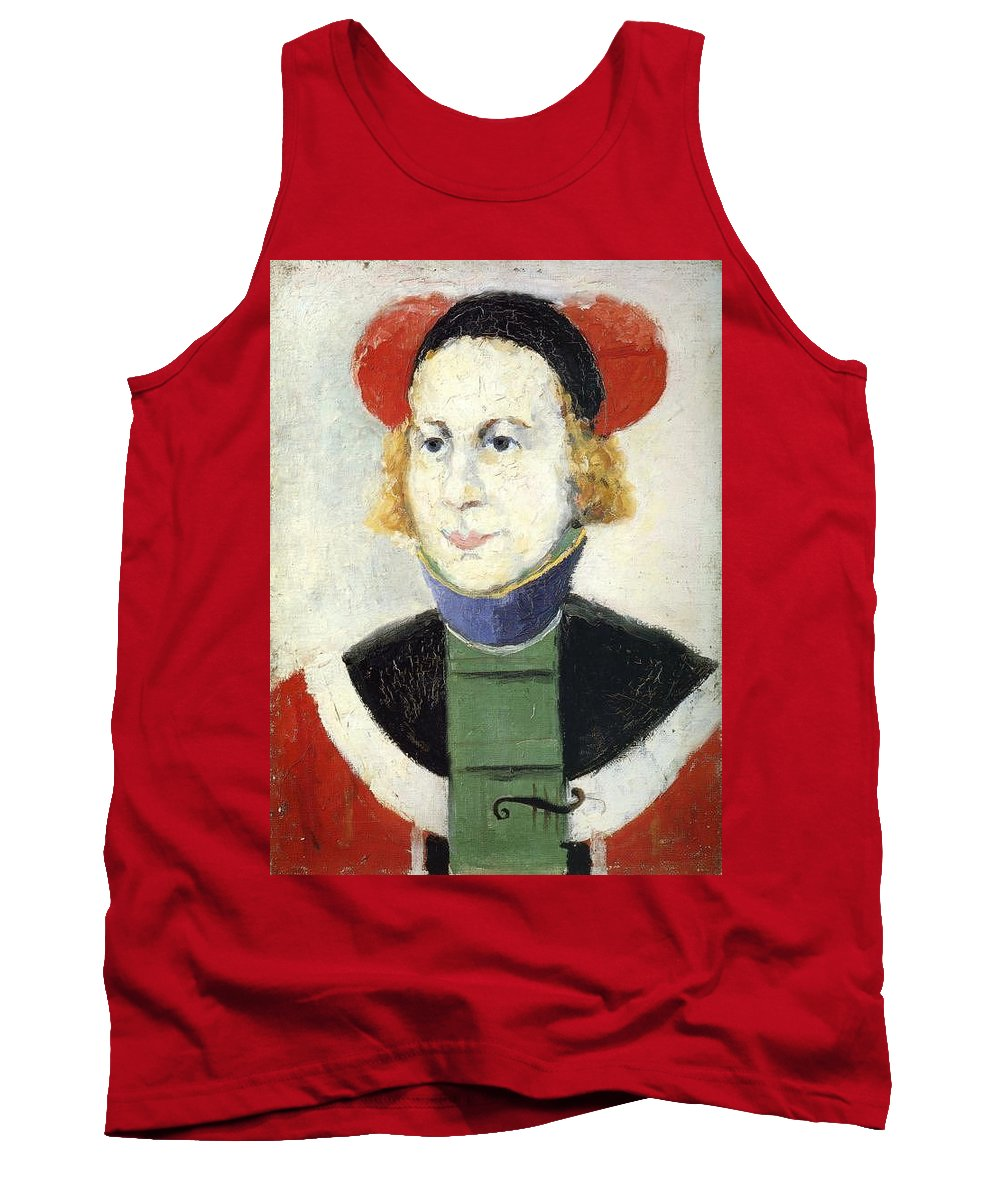 Crazy Tank Top featuring the digital art malevich179 Kazimir Malevich by Eloisa Mannion