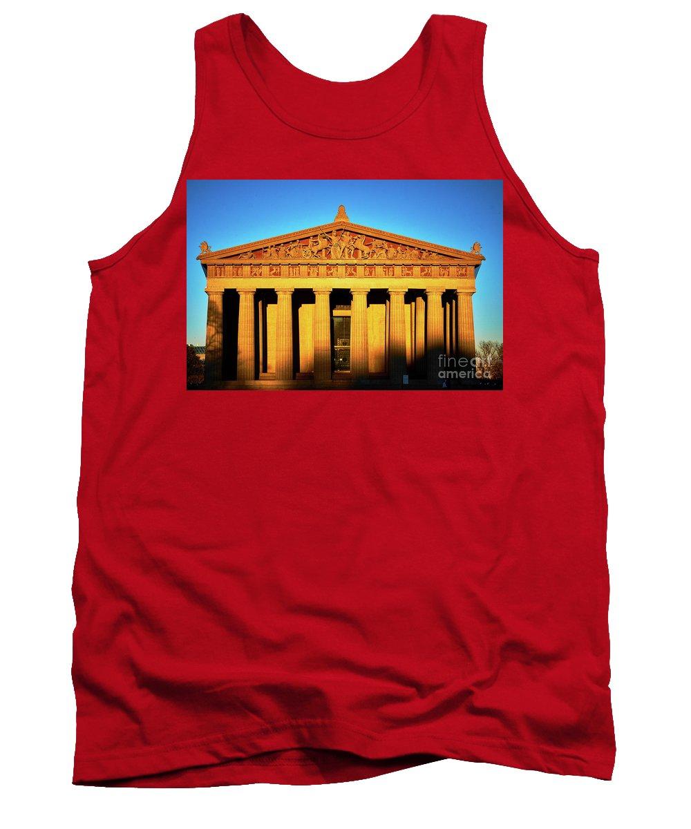 Nashville Tank Top featuring the photograph Parthenon In Nashville by Stanton Tubb