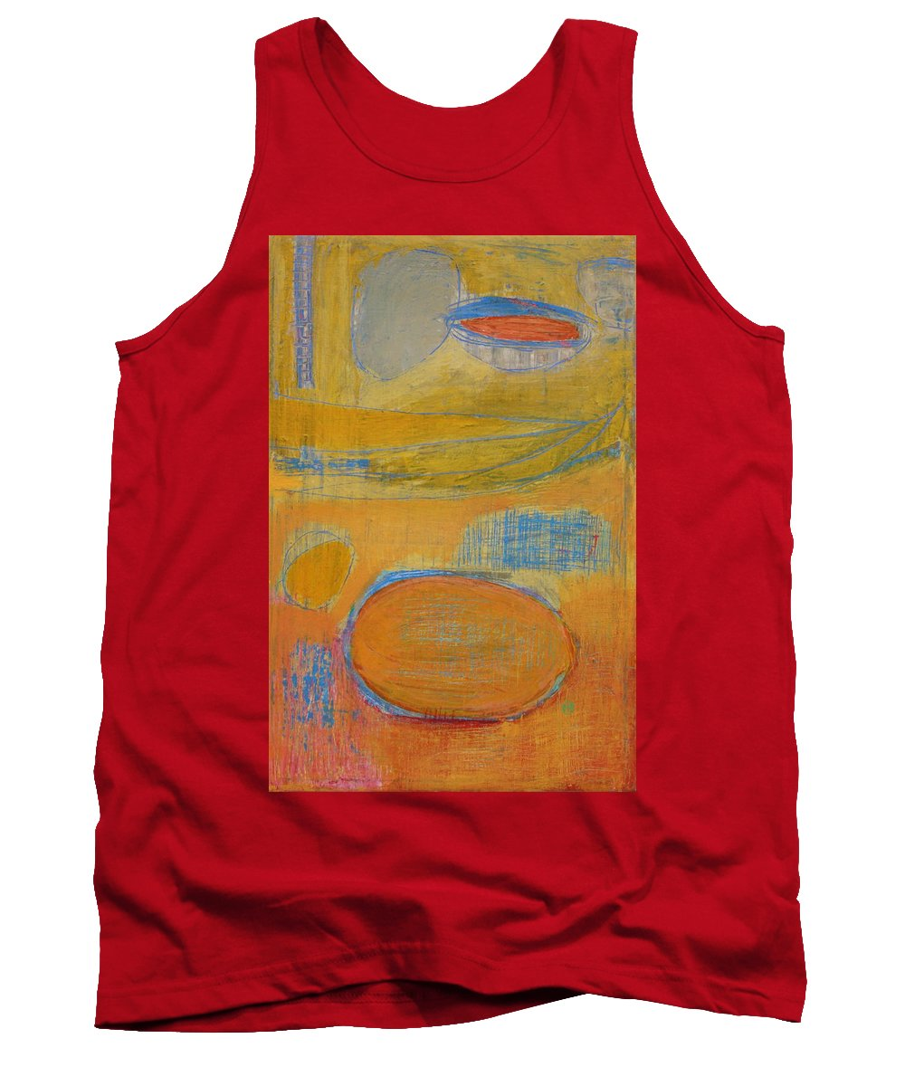 Abstract Tank Top featuring the painting Rebirth by Habib Ayat