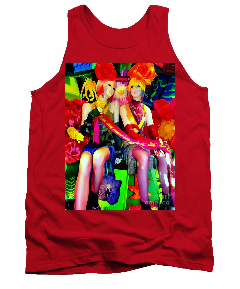 Mannequins Tank Top featuring the digital art Sassy Sisters by Ed Weidman