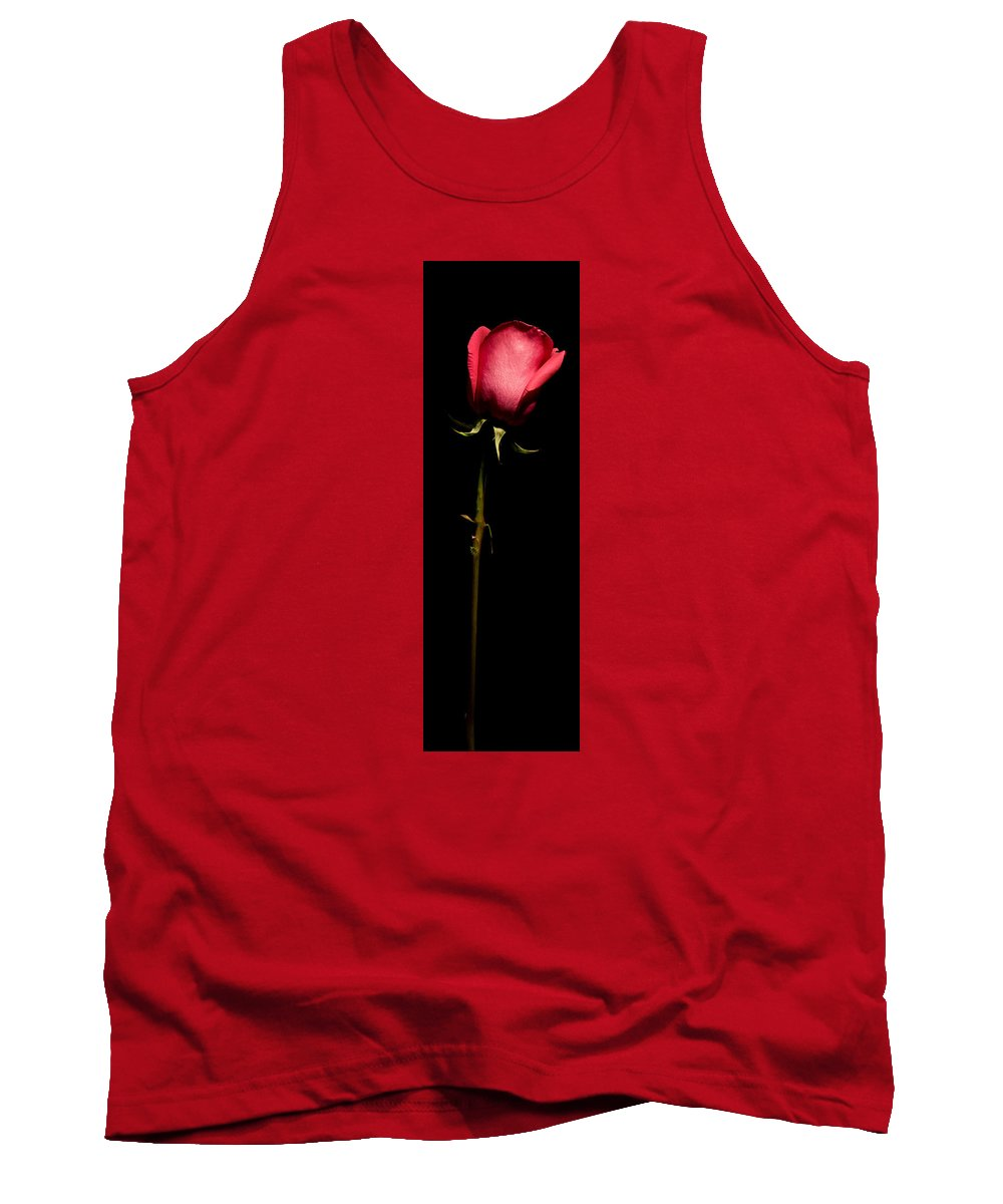 Scent Tank Top featuring the photograph Single Rose by Avril Christophe