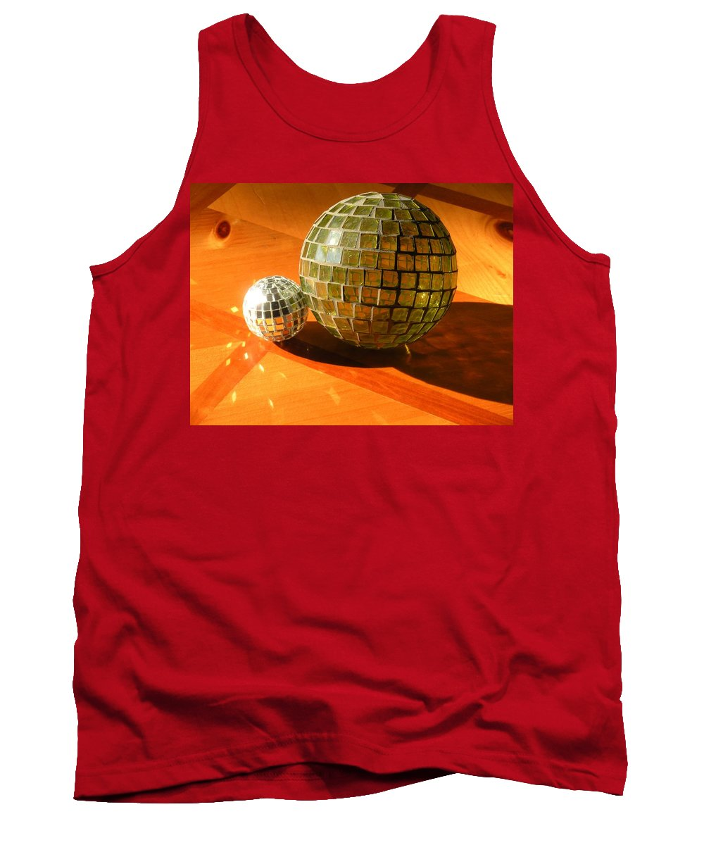 Tank Top featuring the photograph Sunlit Spheres by Maria Bonnier-Perez