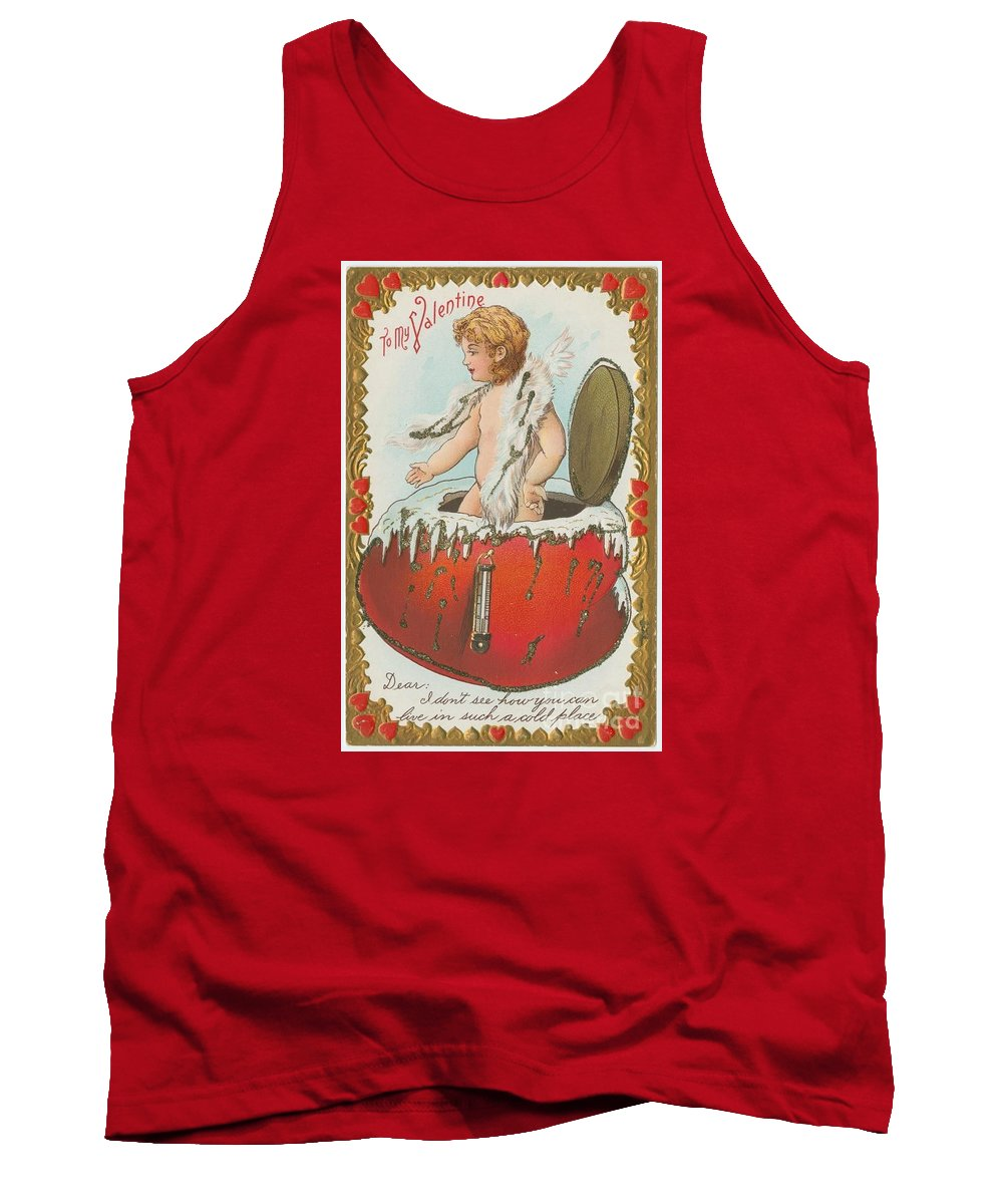 Valentine Design Six Tank Top featuring the painting Valentine Design Six by Pd