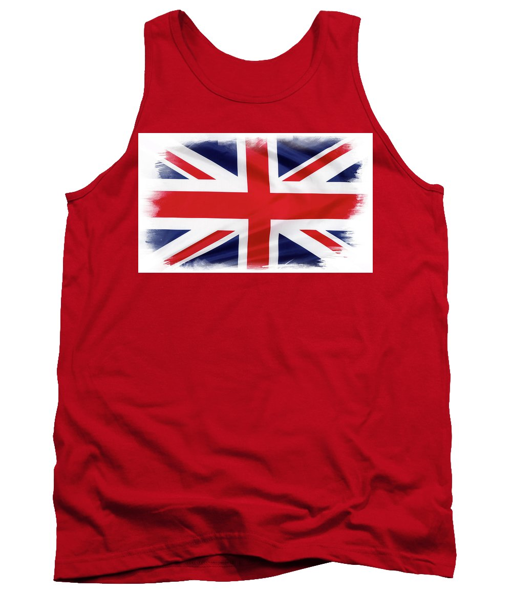 British Flag Tank Top featuring the photograph Union Jack by Les Cunliffe