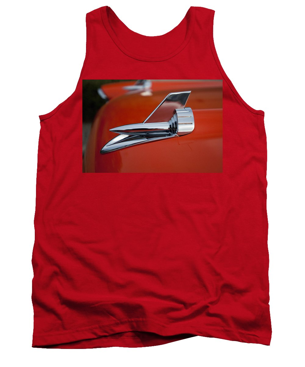 1957 Chevrolet Tank Top featuring the photograph 1957 Chevrolet Hood Ornament by Jill Reger