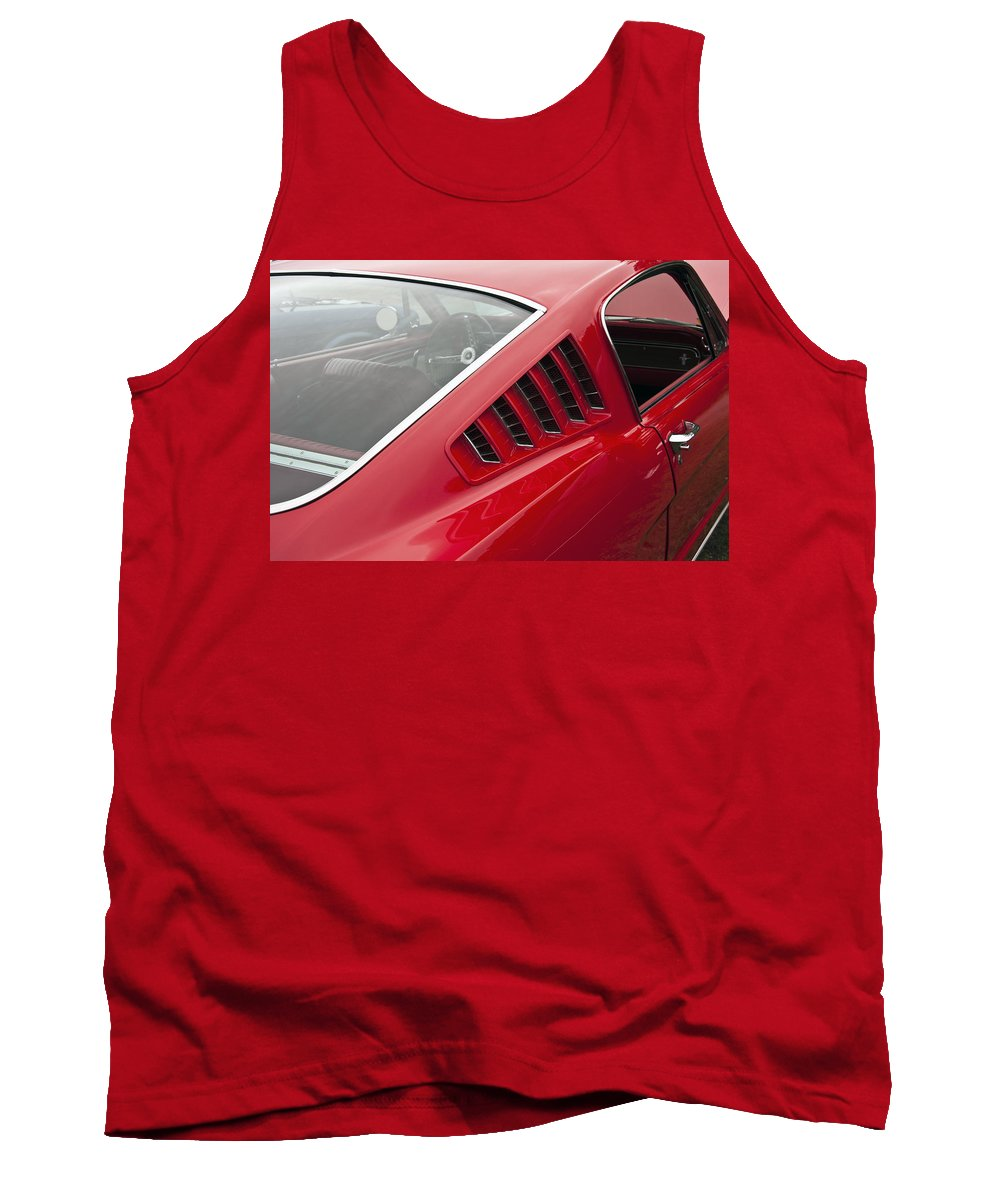 1965 Tank Top featuring the photograph 1965 Mustang Fastback by Glenn Gordon