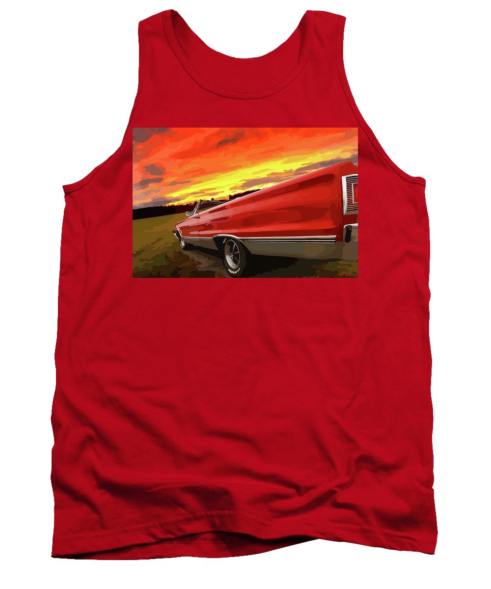 426 Tank Top featuring the photograph 1967 Plymouth Satellite Convertible by Gordon Dean II