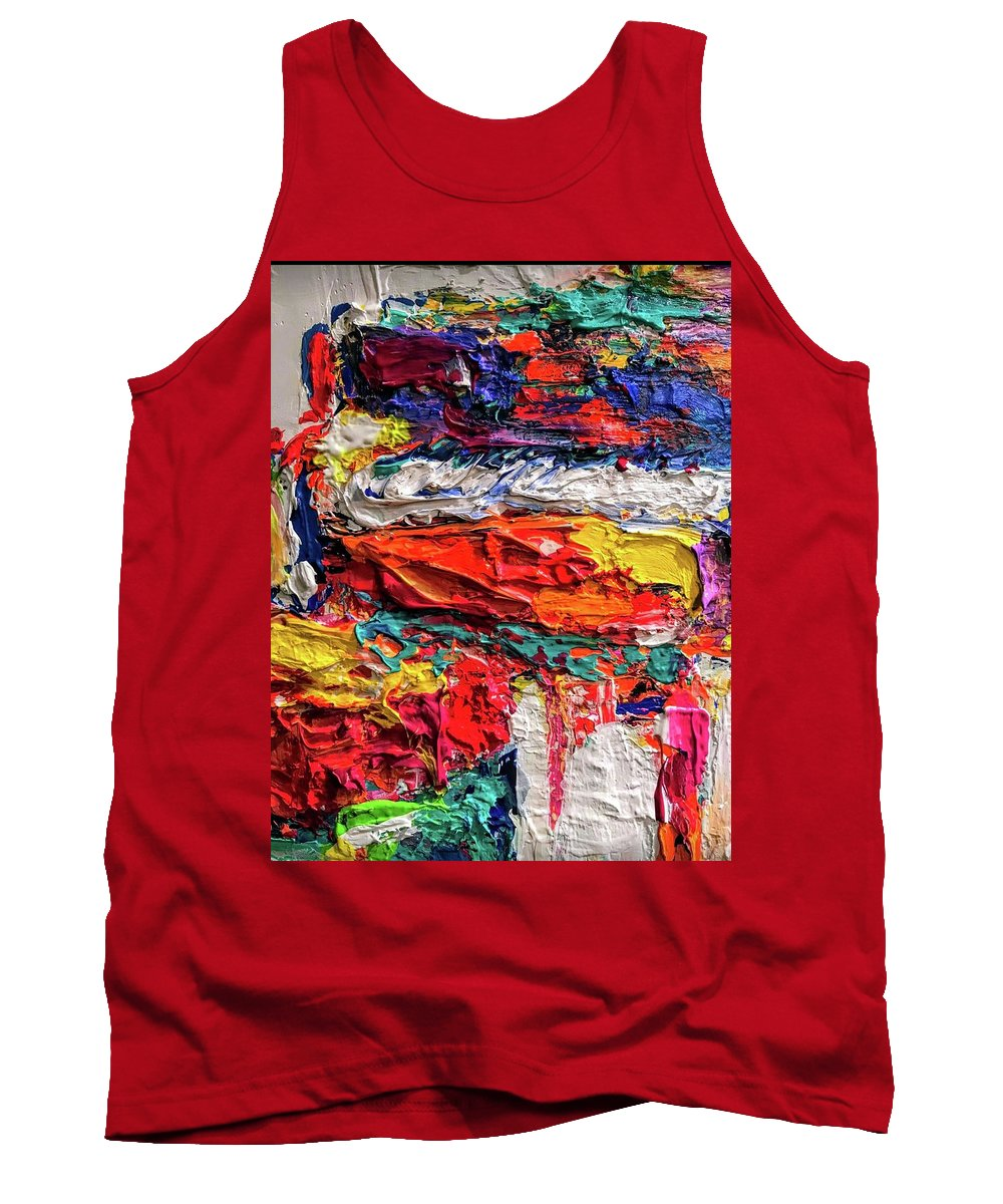Abstract Painting Tank Top featuring the painting Boom Of The Tingling Strings by Heather Roddy