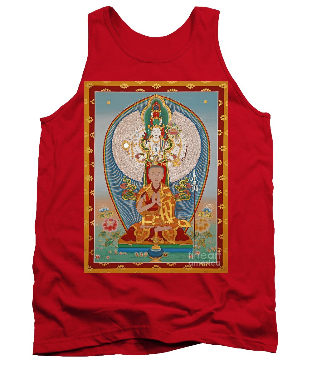 Tank Top featuring the painting Gelongma Palmo by Sergey Noskov