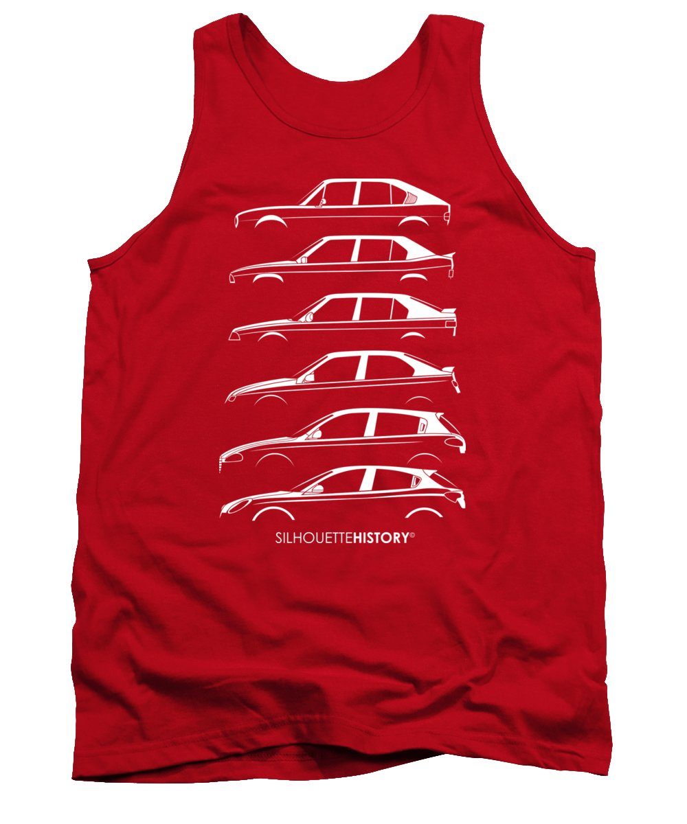 Compact Cars Tank Top featuring the digital art Lombard Compact Silhouettehistory 2 by Gabor Vida