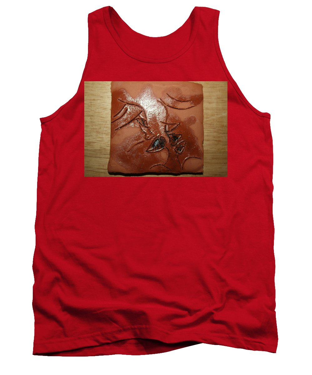 Jesus Tank Top featuring the ceramic art Mellow - Tile by Gloria Ssali