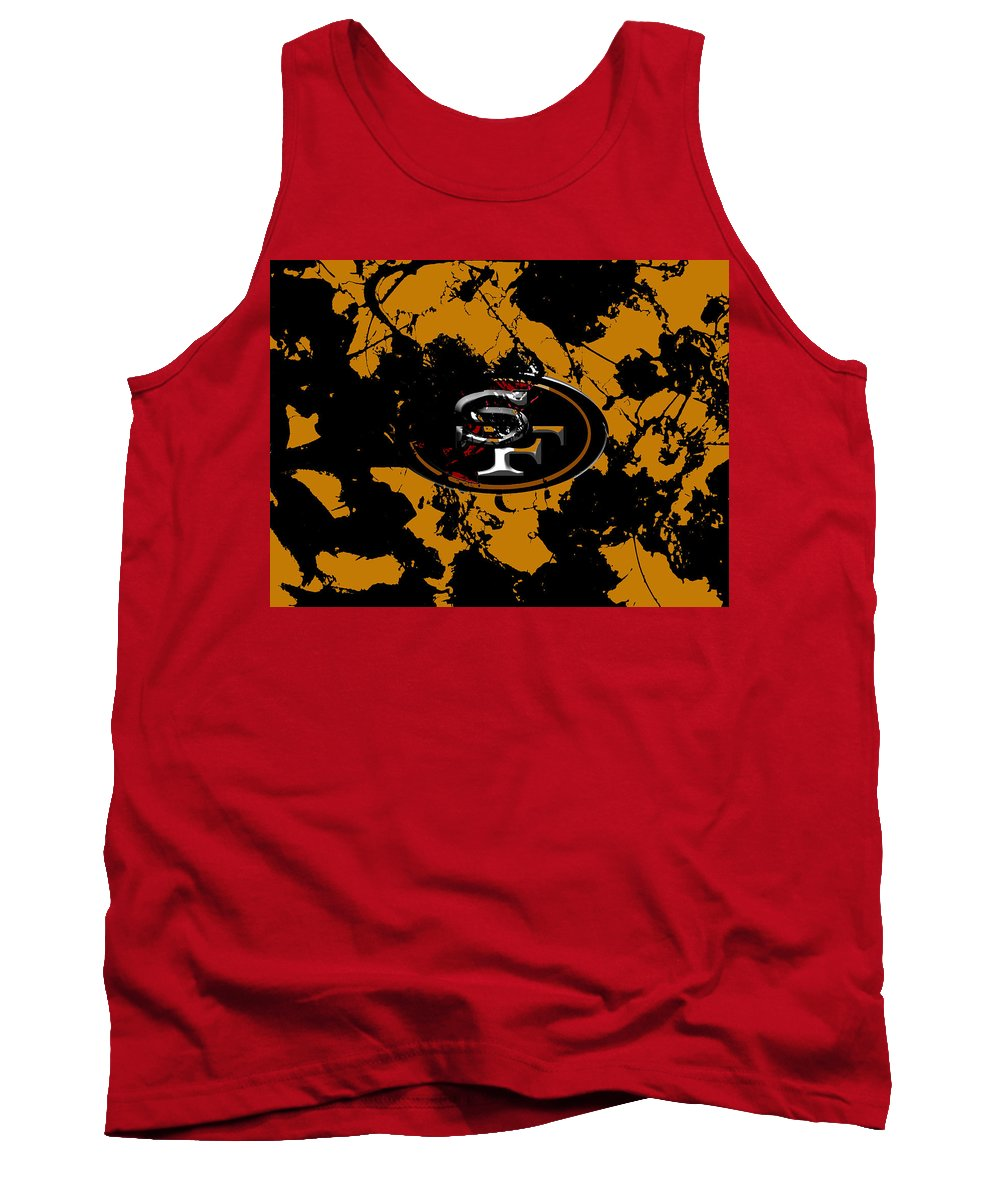 San Francisco 49ers Tank Top featuring the mixed media San Francisco 49ers by Brian Reaves