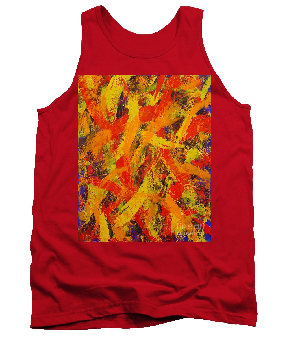 Abstract Tank Top featuring the painting Untitled by Dean Triolo