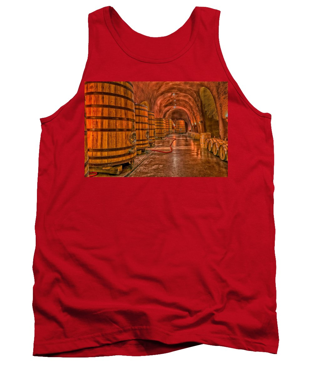 Wine Tank Top featuring the photograph Wine Barrels by Mountain Dreams