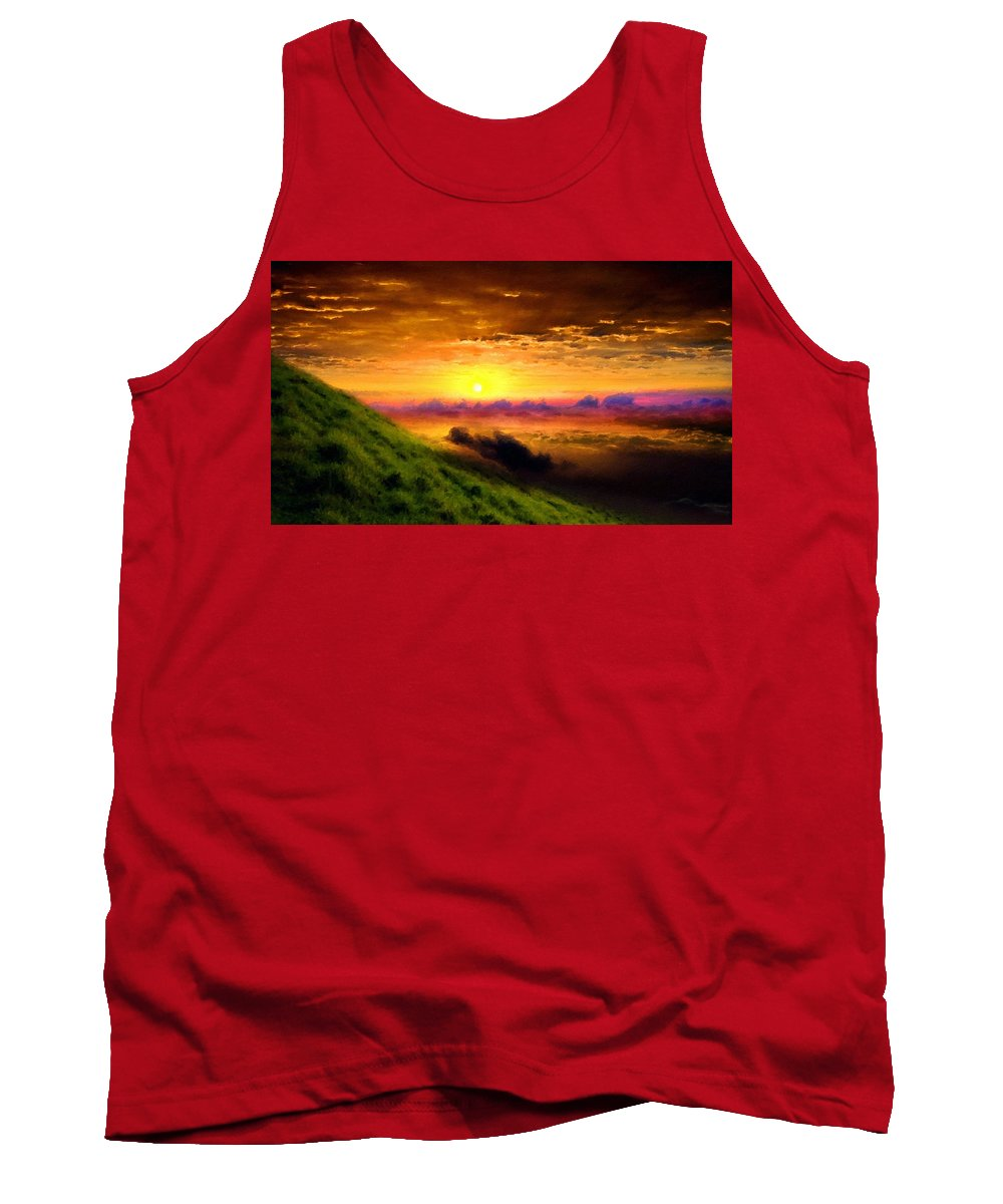 C Tank Top featuring the digital art D L Landscape by Usa Map
