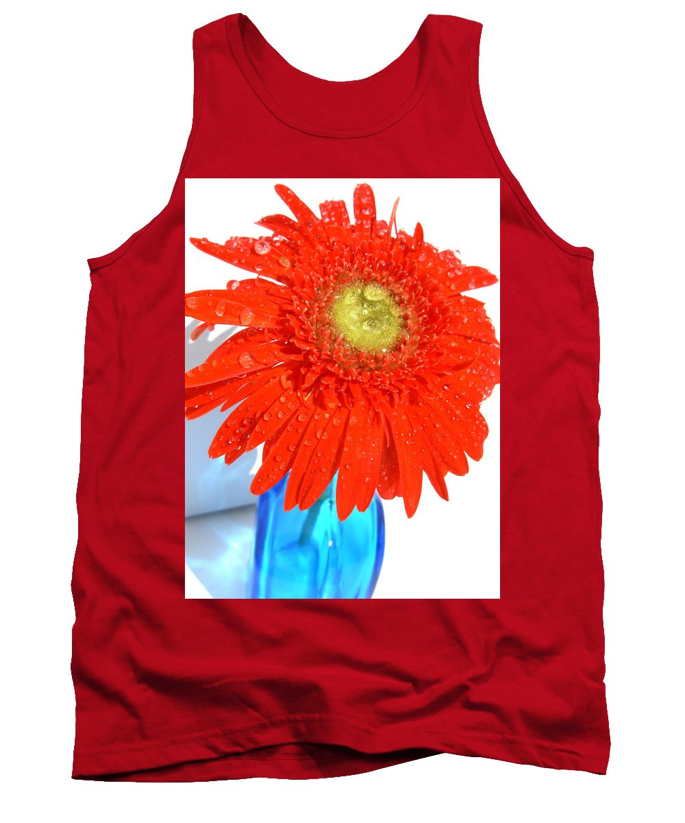 Gerbera Photographs Tank Top featuring the photograph 2044a by Kimberlie Gerner