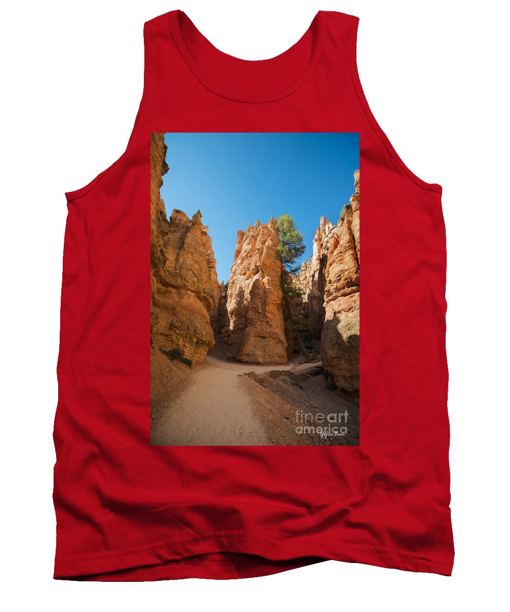 Hoodoos On Navajo Trail Tank Top featuring the photograph Spires On Navajo Trail by Yefim Bam