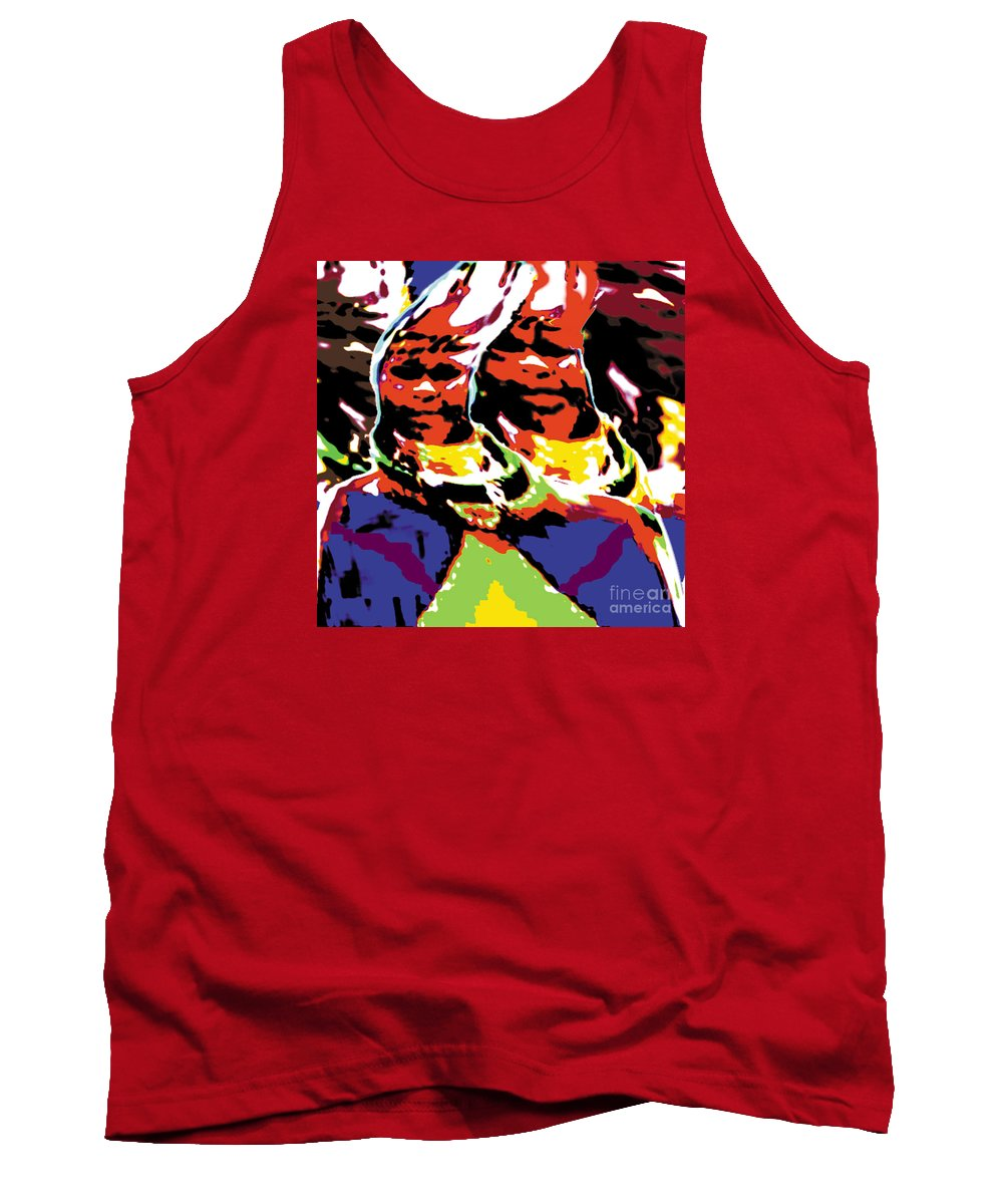 Africa Tank Top featuring the digital art Dr by Caddelle Faulkner