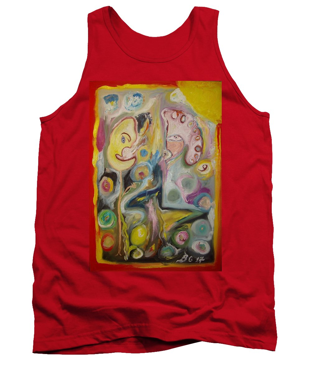 Abstract Tank Top featuring the painting 3 Images by Bennu Bennu