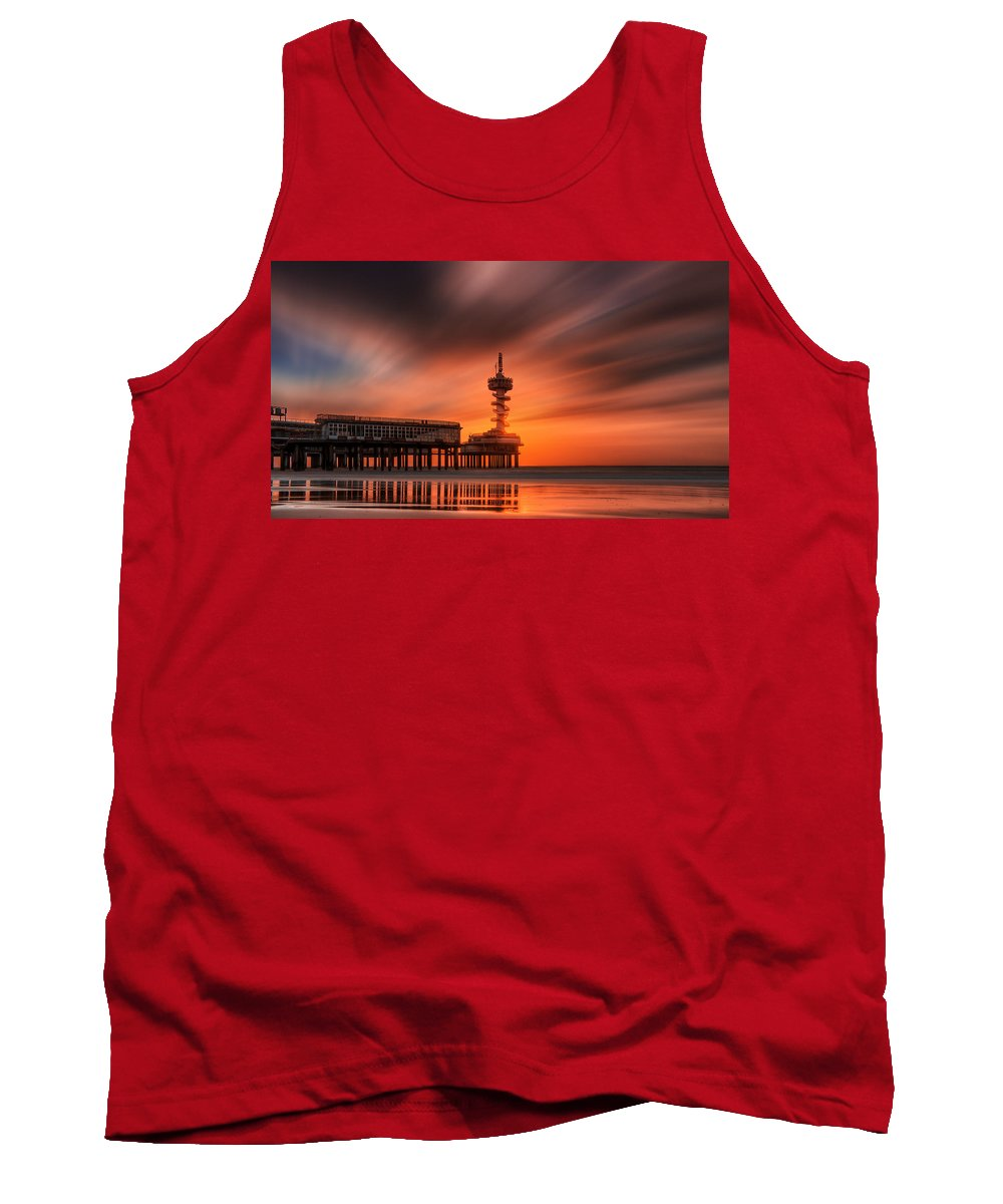 Photography Tank Top featuring the photograph Pier by Vincent Ferooz