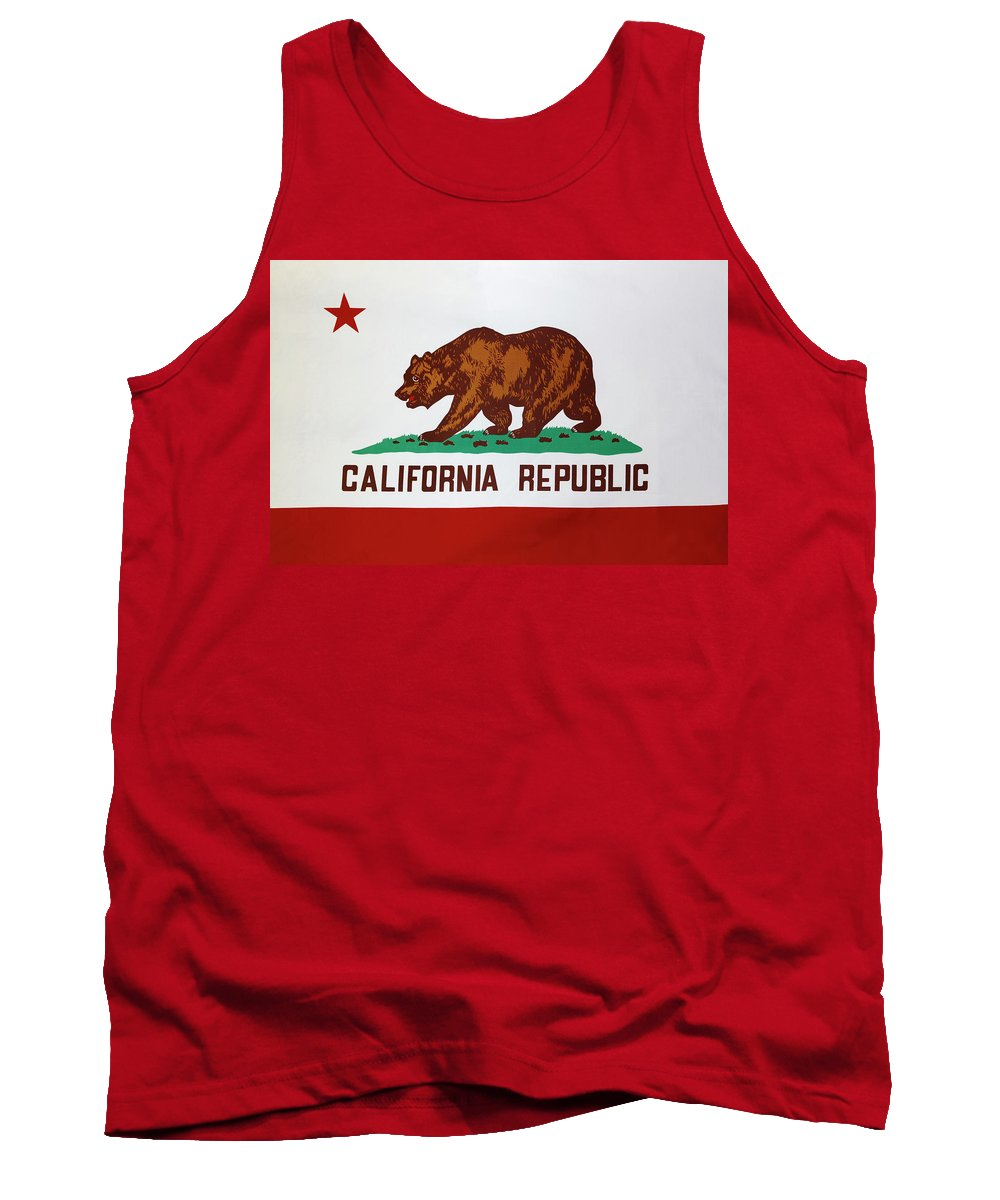 American Tank Top featuring the photograph California Flag by Les Cunliffe