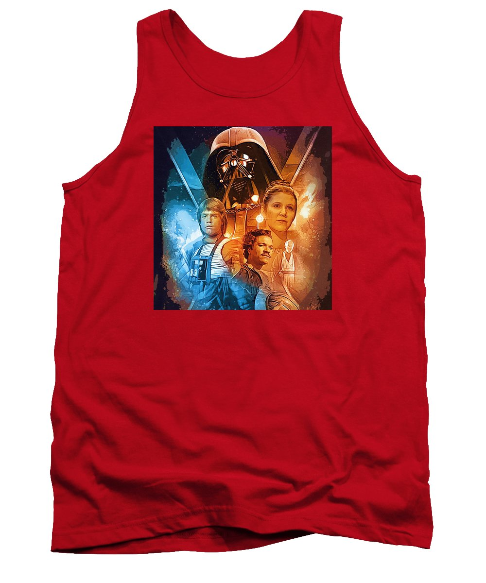 Star Wars Darth Vader Tank Top featuring the digital art Star Wars Episode 2 Art by Larry Jones