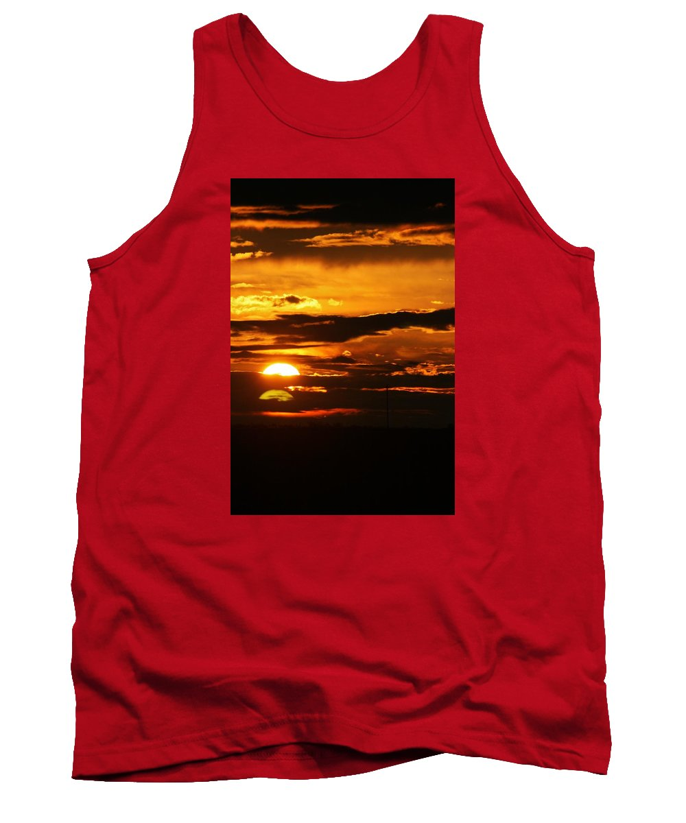 Landscape - Sunset Tank Top featuring the photograph West Texas Sunset by Val Conrad