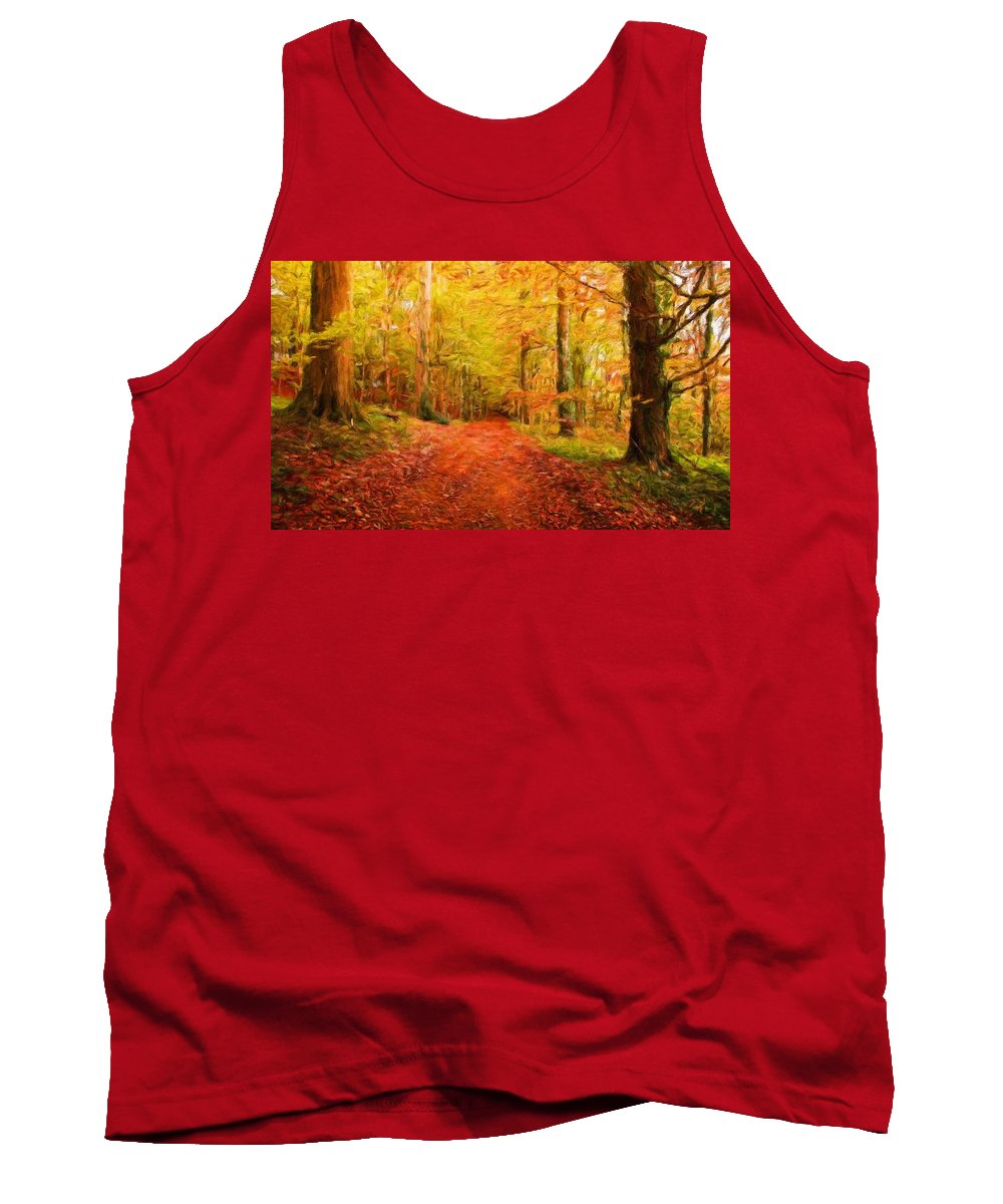 Landscape Tank Top featuring the painting Nature New Landscape by World Map