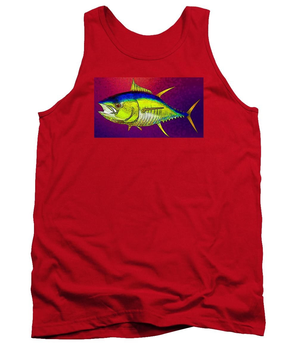 Fish Tank Top featuring the digital art Underwater. Fish. by Elena Kosvincheva