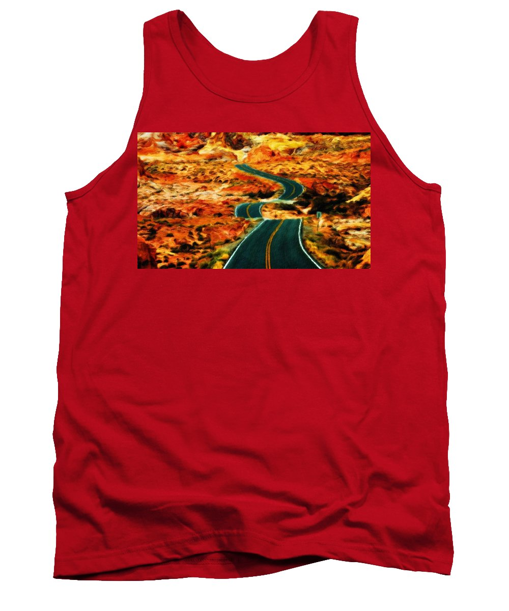 Landscape Tank Top featuring the painting Nature Work Landscape by World Map