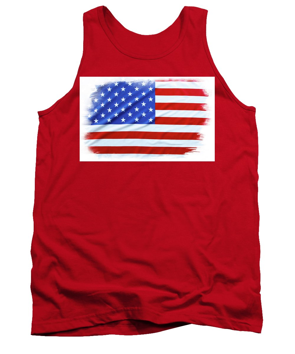 Flag Tank Top featuring the photograph Usa Flag by Les Cunliffe