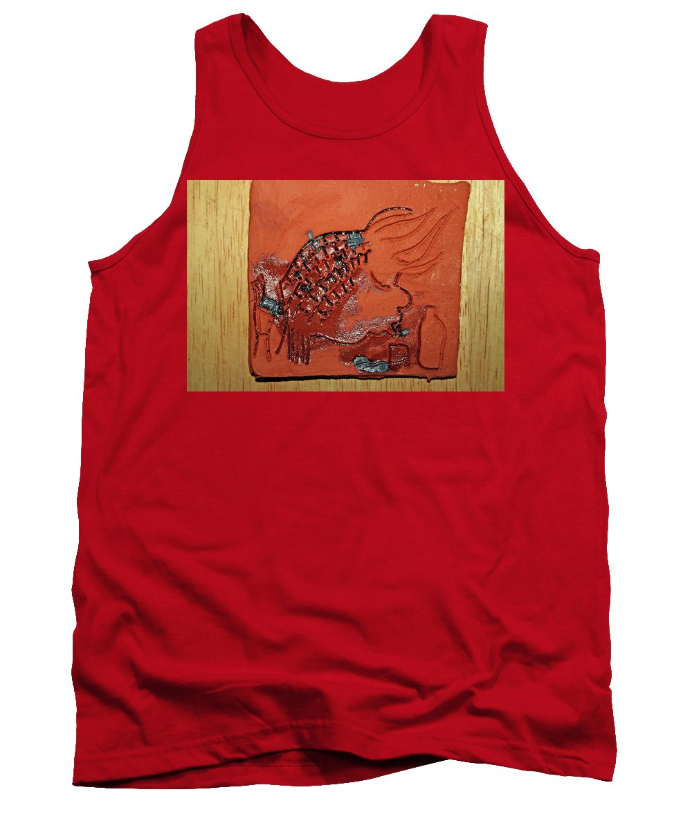 Pineapple Tank Top featuring the ceramic art Crazy Pineapple - Tile by Gloria Ssali
