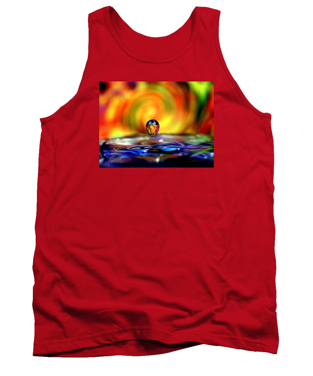 Don Keisling Tank Top featuring the photograph 70's Water Drop by Don Keisling