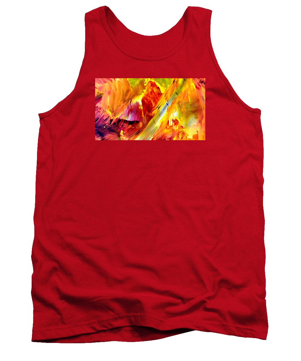 Abstract Tank Top featuring the painting Untitled by Alison O'Meara