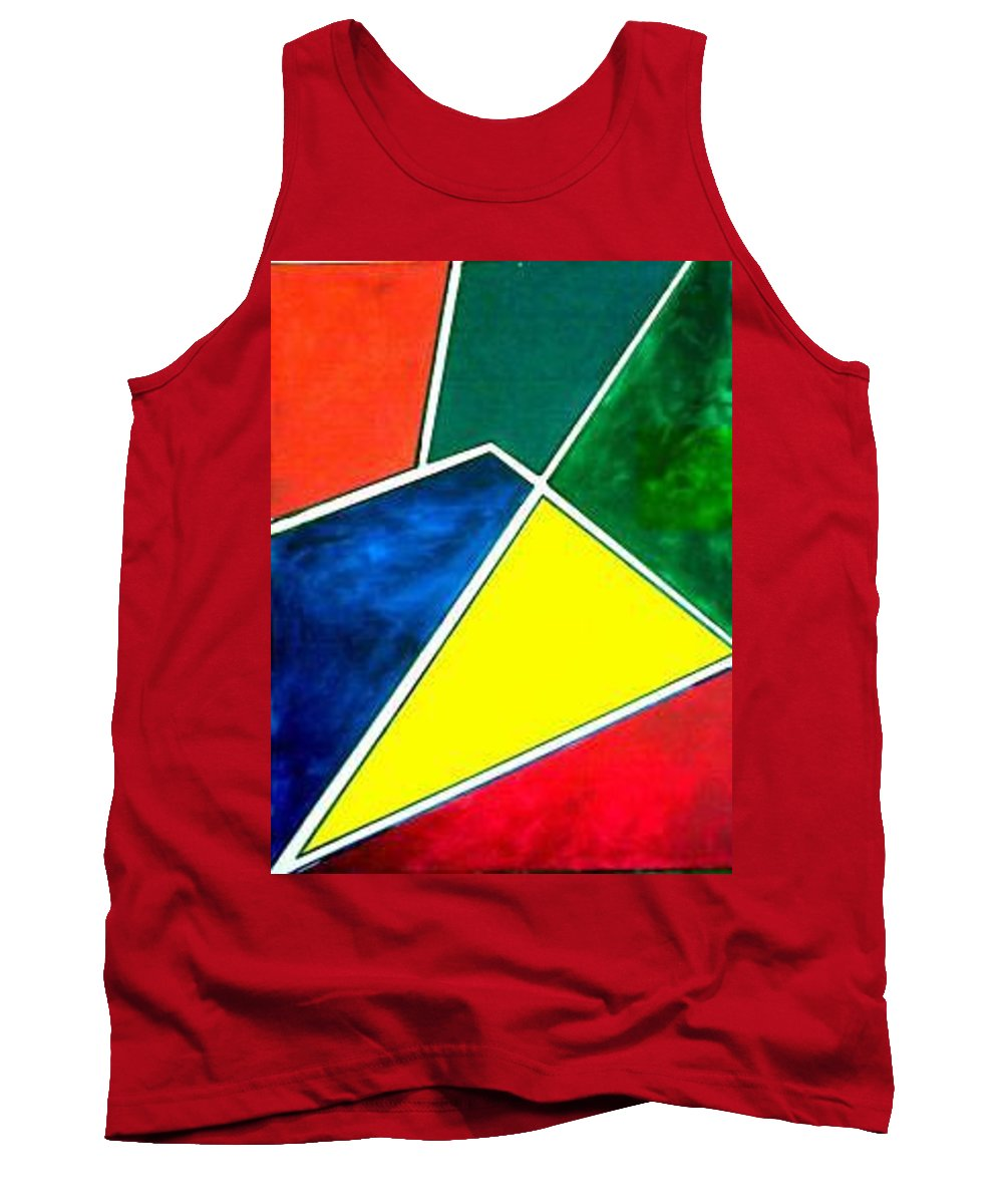 Primary And Sondary Colors Tank Top featuring the painting 99870 Colors by Andrew Johnson