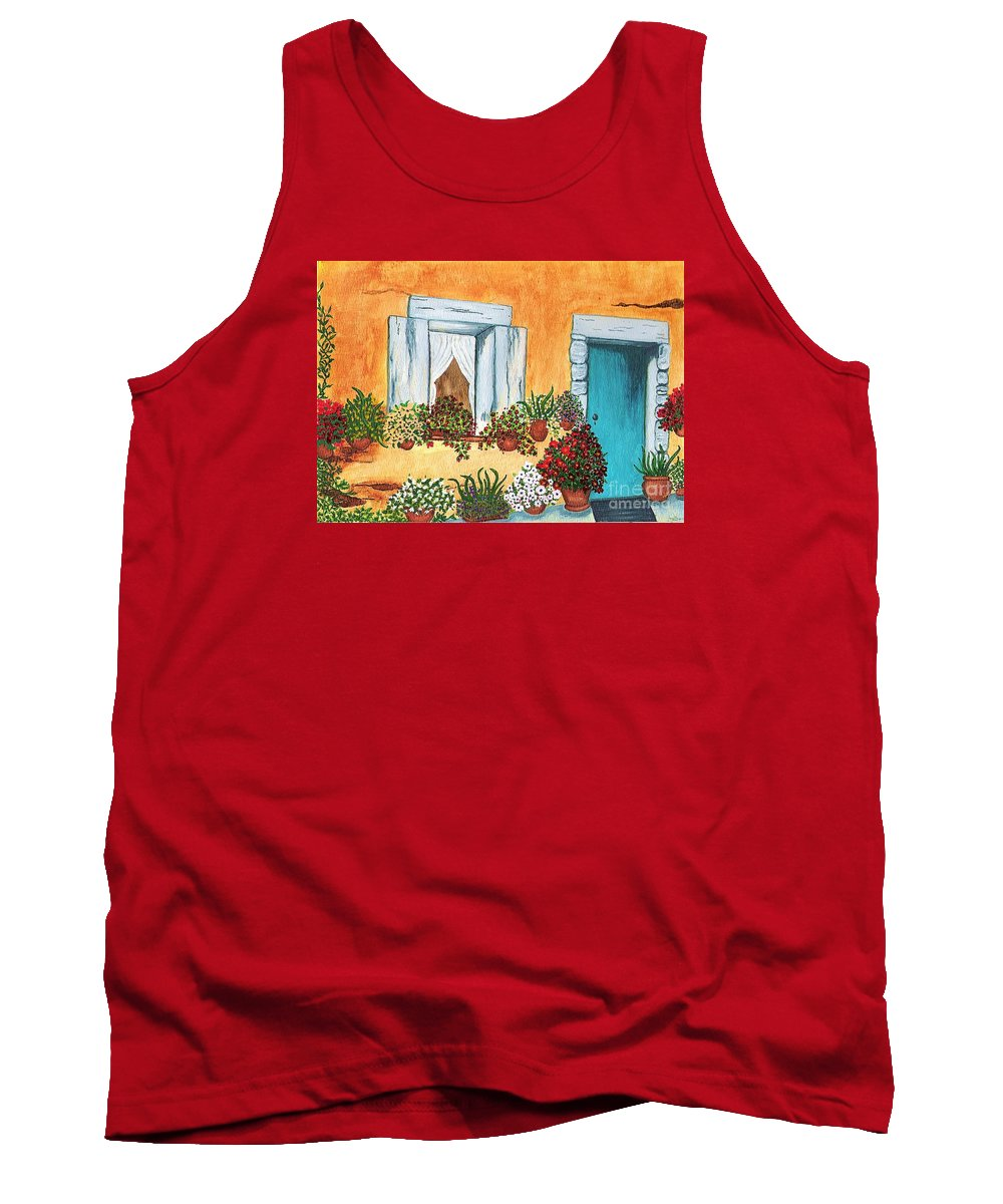 Watercolor Painting Tank Top featuring the painting A Cottage In The Village by Patricia Griffin Brett