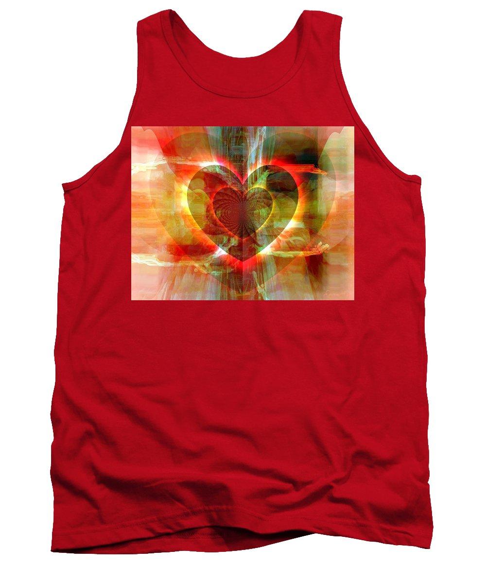 Fania Simon Tank Top featuring the digital art A Forgiving Heart by Fania Simon