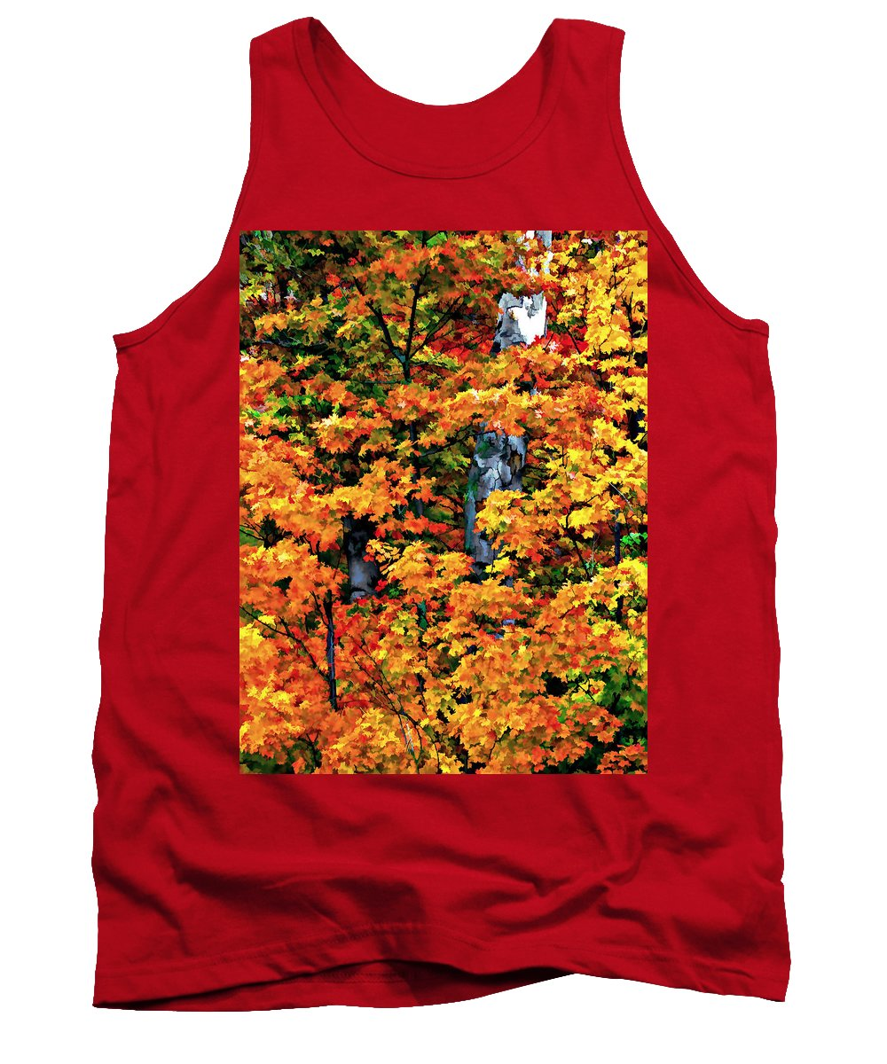 Trees Tank Top featuring the photograph A Giant Passes by Steve Harrington