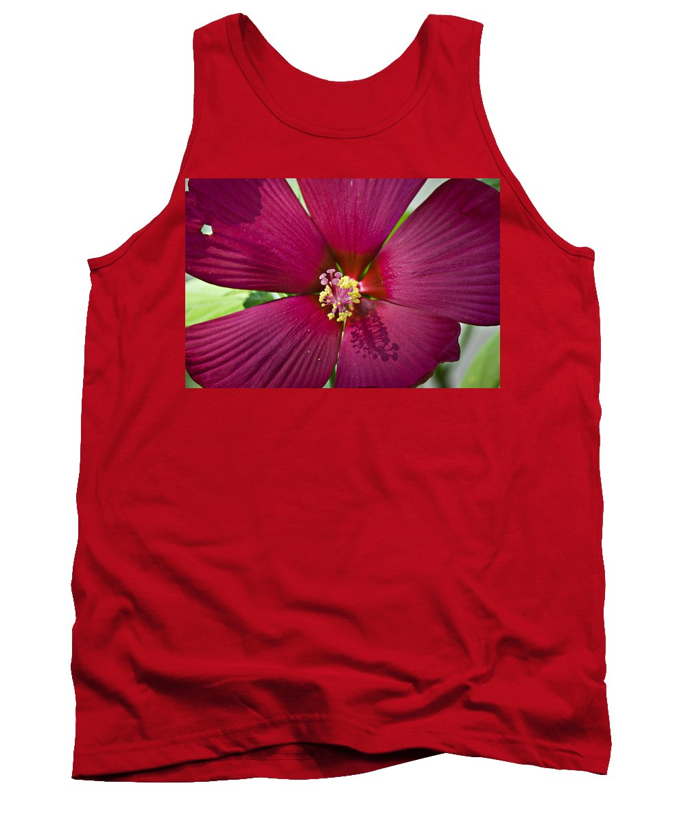 Hibiscus Tank Top featuring the photograph A Hole In One by Teresa Mucha