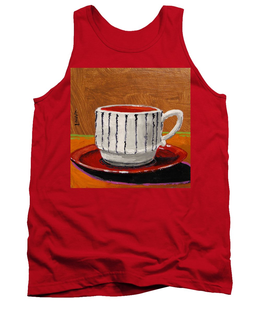 Coffe Cup Tank Top featuring the painting A Perfect Cup by John Williams