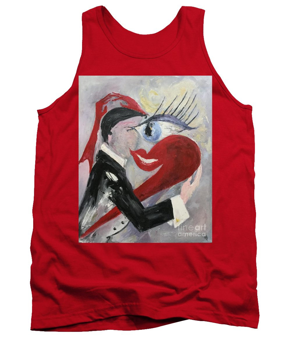 Valentine's Day Tank Top featuring the painting A Reason by Dorota Zukowska
