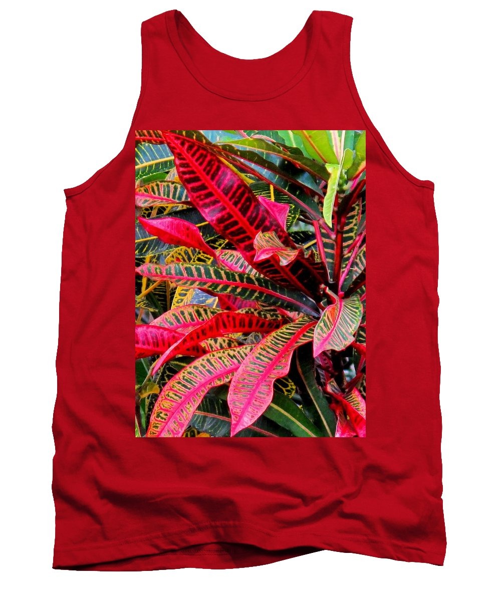 Red Tank Top featuring the photograph A Rich Composition by Ian MacDonald