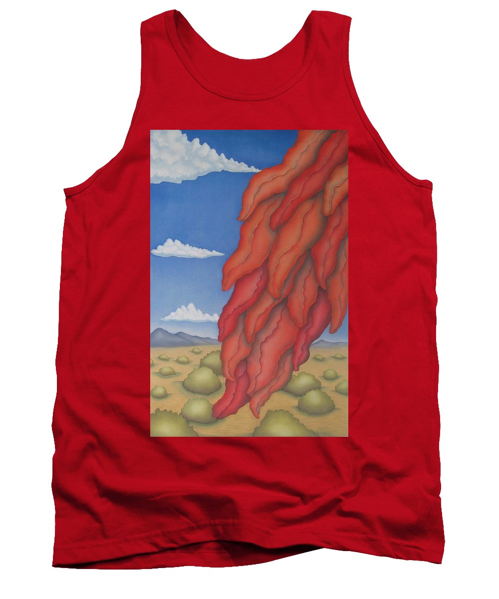 Southwest Tank Top featuring the painting A Ristra On A Breeze by Jeniffer Stapher-Thomas