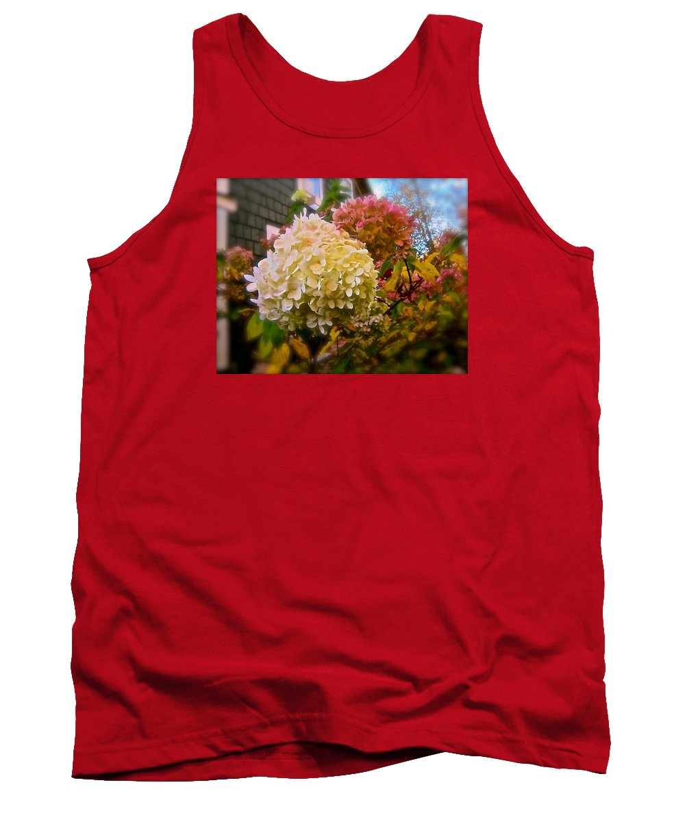 Hydrangea Tank Top featuring the photograph A Sign Of Contradiction by Elizabeth Tillar