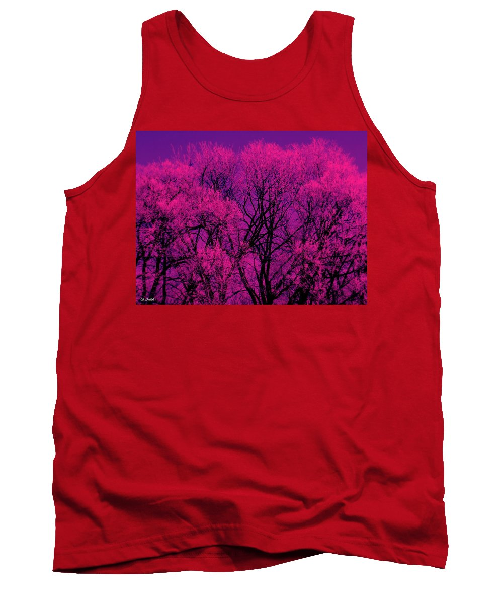 A Splash Of Purple Tank Top featuring the photograph A Splash Of Purple by Ed Smith