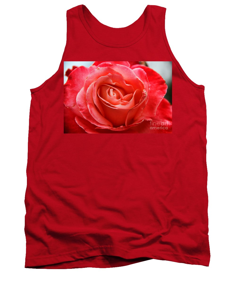 Unique Tank Top featuring the digital art A Unique Rose Just For You by Mariola Bitner